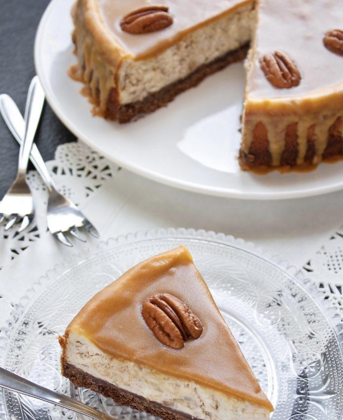 Fit cheesecake al caramello